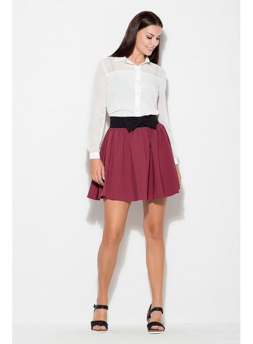 Skirt K056 Deep red