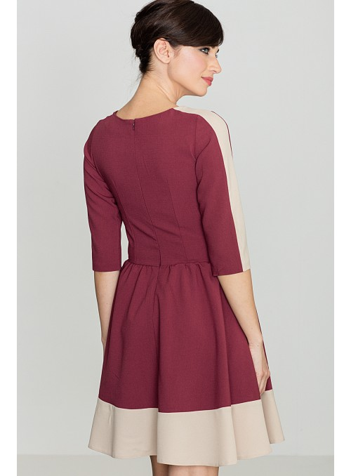 Dress K057 Deep red