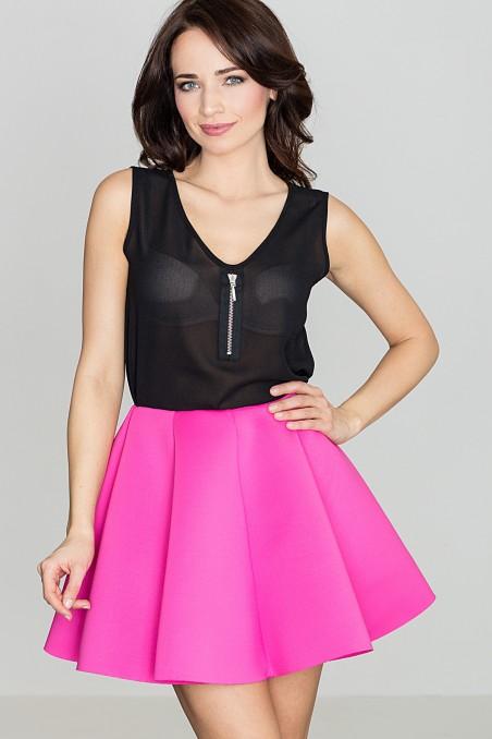 Lengvas ryškiai rožinis sijonas