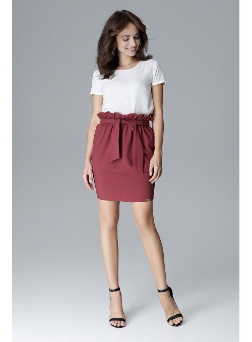 Skirt L019 Deep red