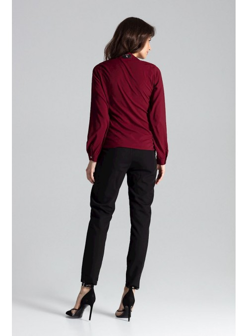 Blouse L023 Deep red