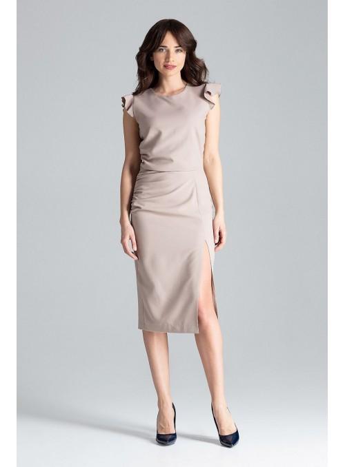 Dress L034 Beige