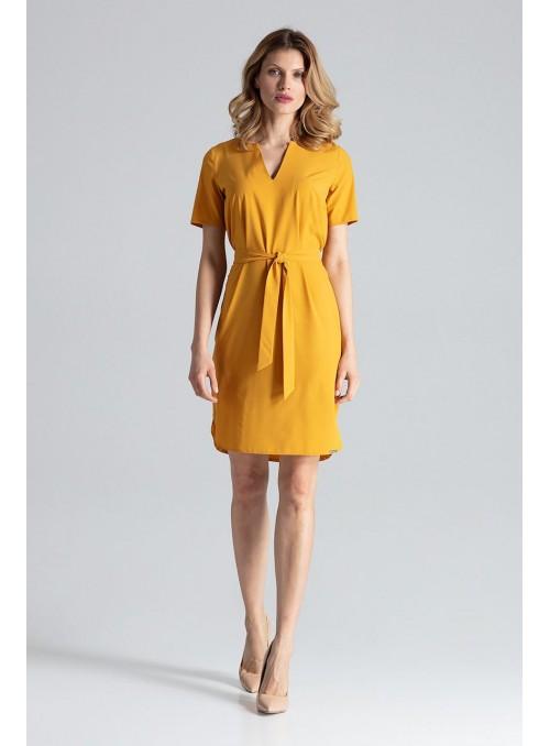 Dress M669 Mustard