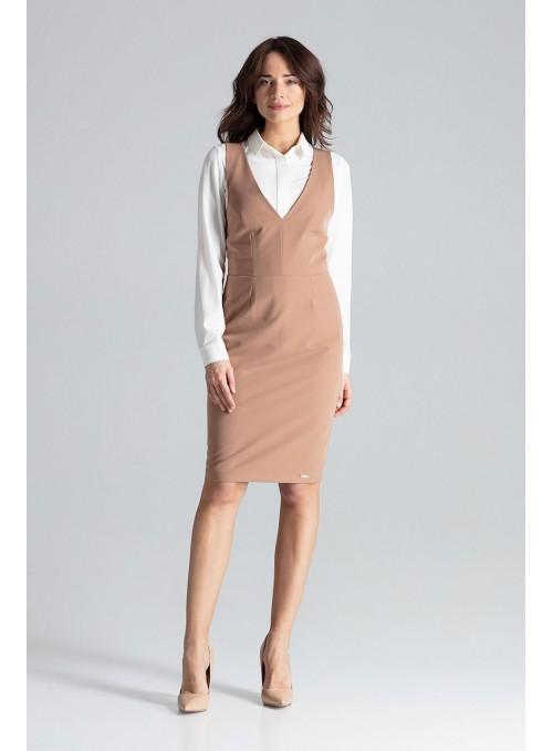 Dress L039 Brown