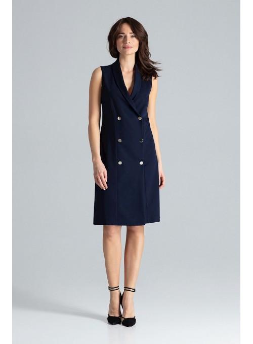 Dress L044 Navy