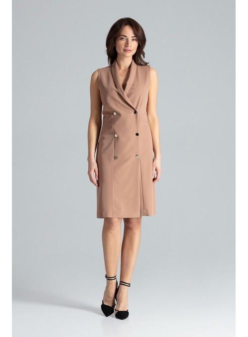 Dress L044 Brown
