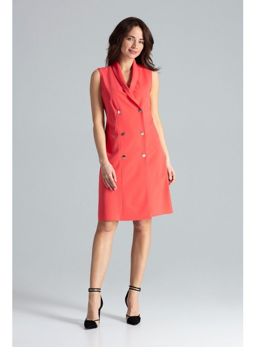 Dress L044 Coral