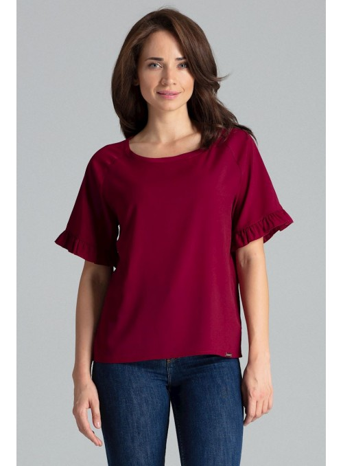 Blouse L052 Deep Red