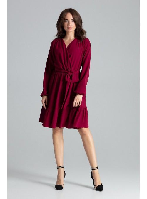 Dress L053 Deep Red