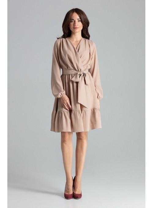 Dress L053 Beige