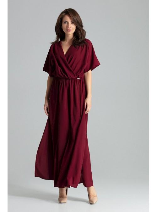 Dress L055 Deep Red