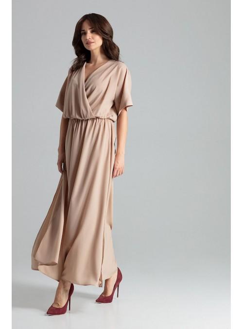 Dress L055 Beige