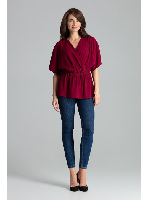 Blouse L063 Deep Red