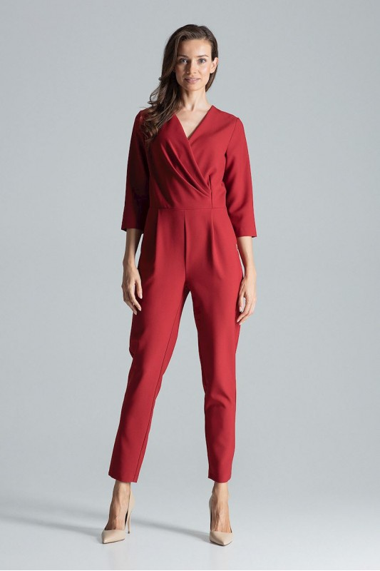 Jumpsuit M672 Deep Red