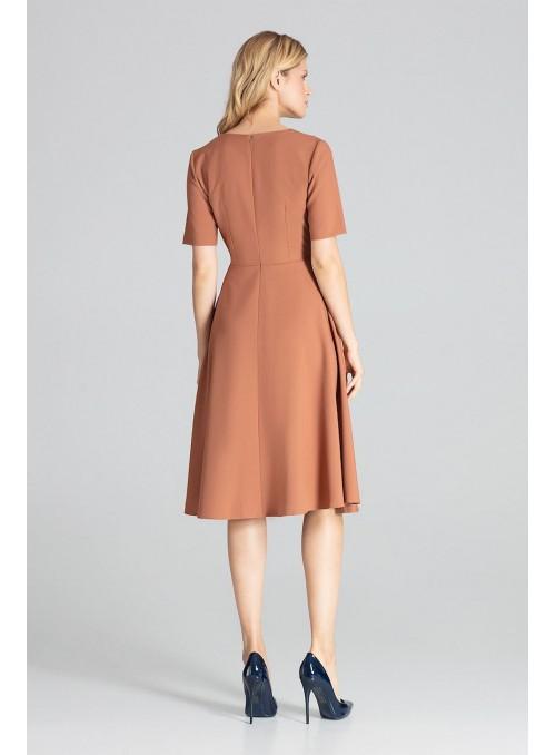 Dress M673 Brown
