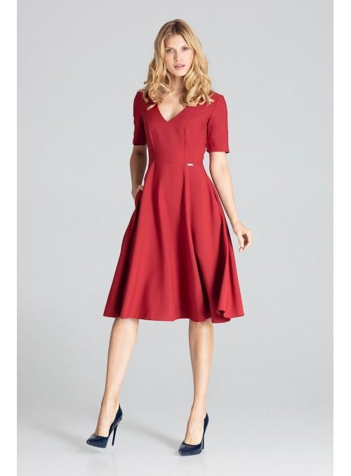 Dress M673 Deep Red