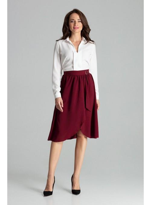 Bordo sijonas su skeltuku