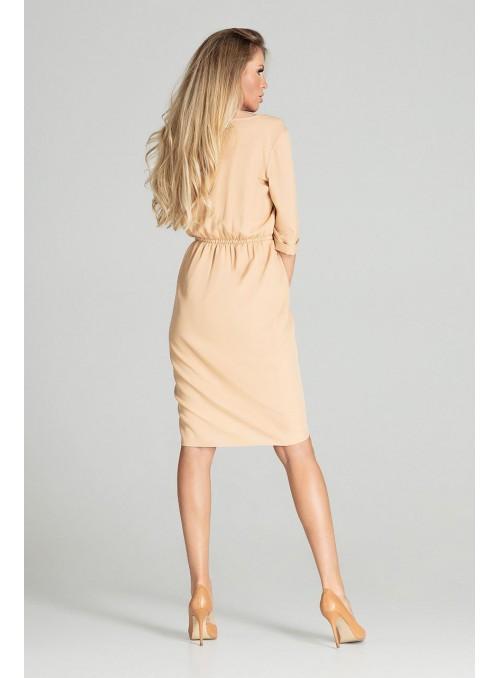 Dress M702 Beige