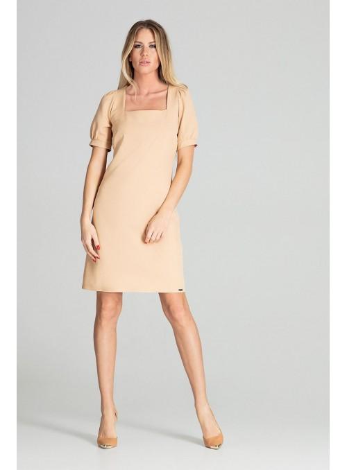 Dress M704 Beige