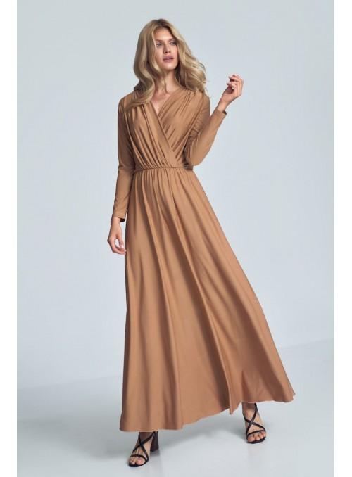Dress M705 Beige