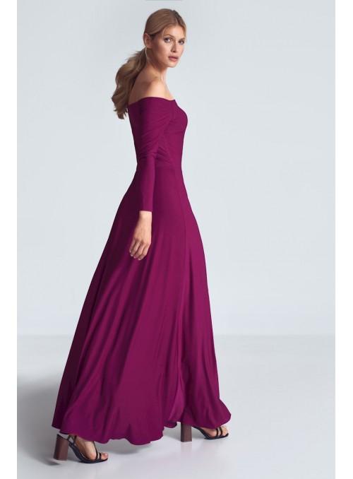 Dress M707 Fuchsia