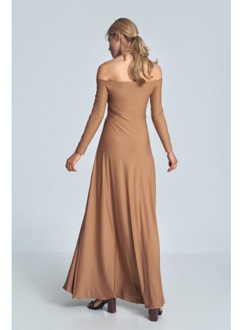 Dress M707 Beige