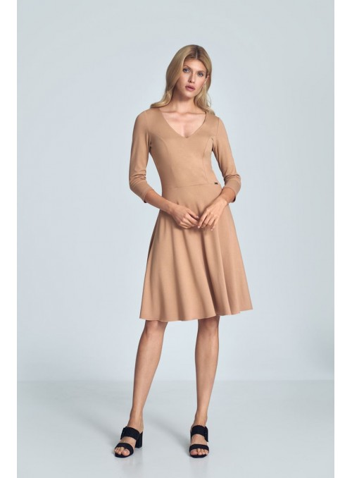 Dress M709 Beige