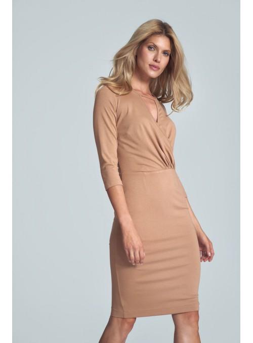 Dress M715 Beige