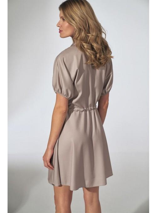 Dress M739 Beige