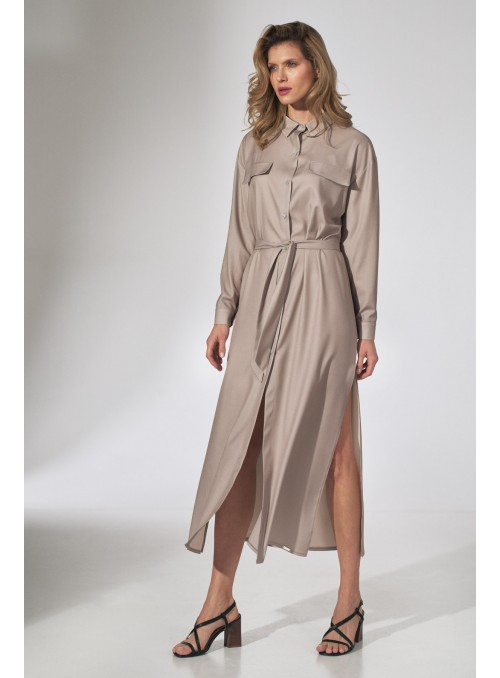 Dress M740 Beige