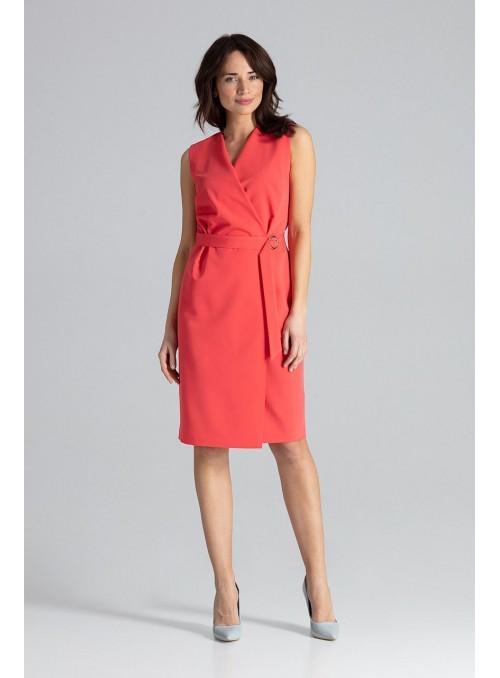 Dress L037 Coral