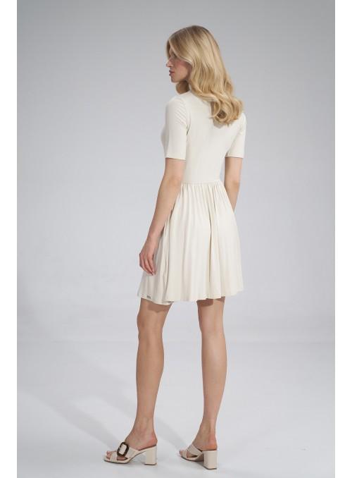 Dress M751 Ecru