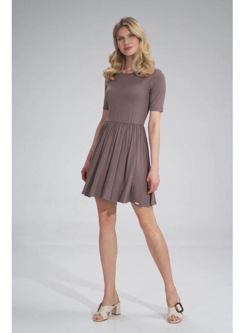 Dress M751 Brown