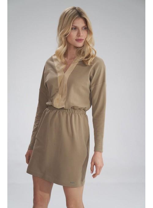 Dress M753 Beige