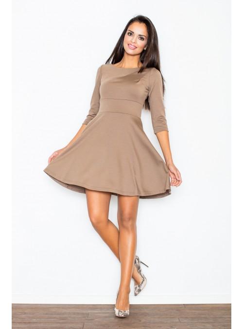 Ruda elegantiška suknelė