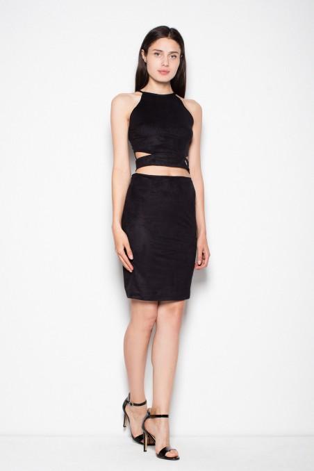 Išskirtinio dizaino juodos spalvos kostiumėlis