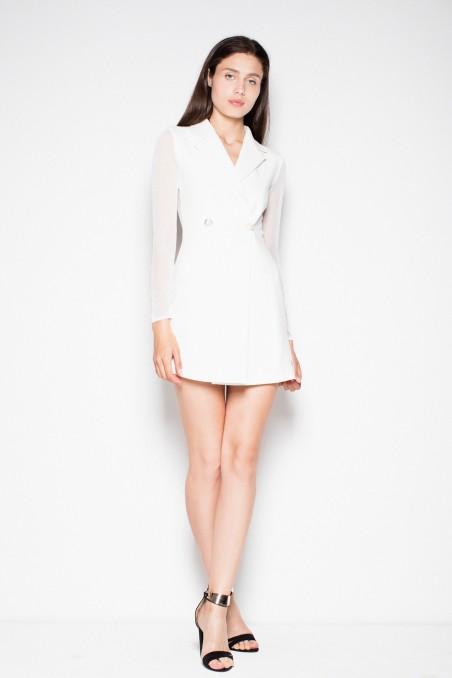Balta švarkelio tipo suknelė
