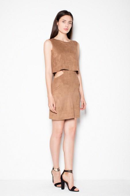 Ruda išskirtinė suknelė