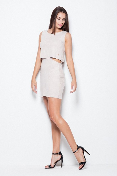 Smėlio spalvos išskirtinė suknelė
