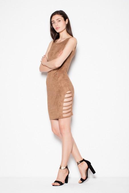 Lengva ruda zomšinė suknelė