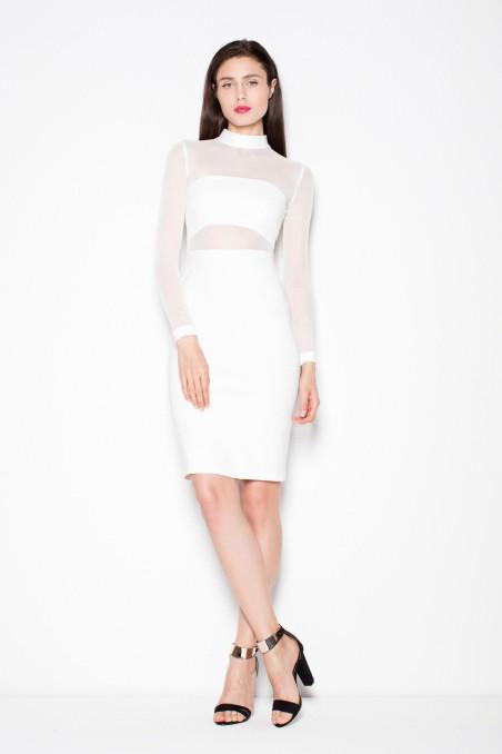 Balta proginė suknelė