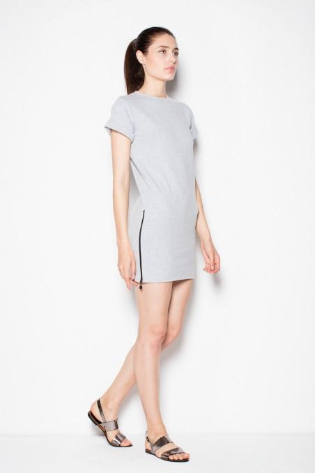 Šviesiai pilka kasdienė suknelė