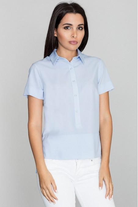 Melsvi susagstomi marškinėliai