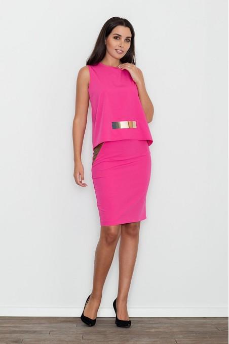 Elegantiškas rožinės spalvos kostiumėlis