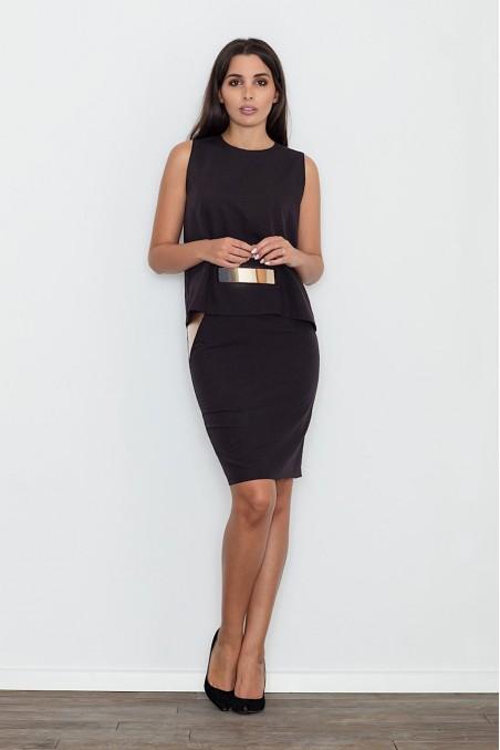 Elegantiškas juodos spalvos kostiumėlis