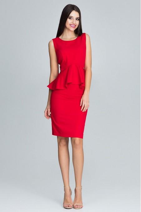 Raudonas dviejų dalių kostiumėlis
