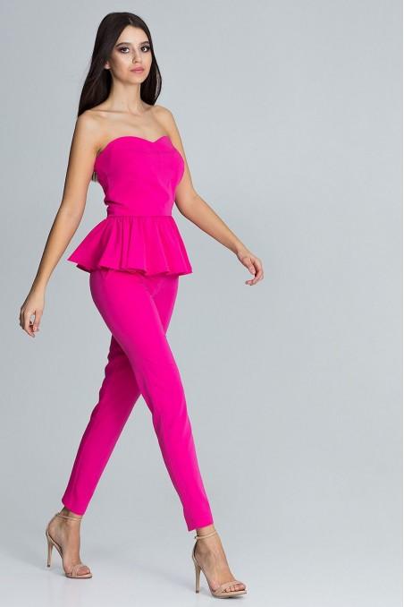 Elegantiškas ryškiai rožinis kostiumėlis