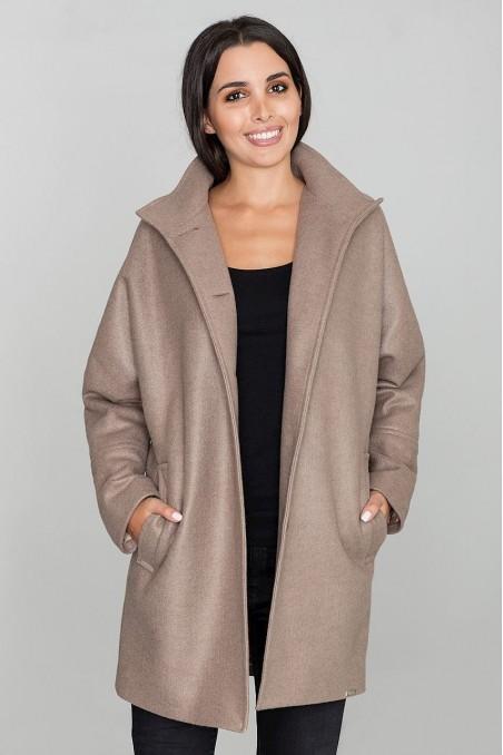 Platus stilingas rudas paltas
