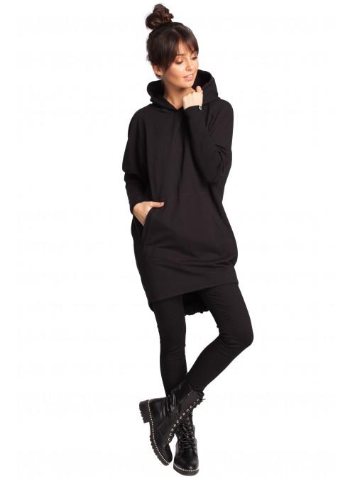 Švelnus juodas megztinis