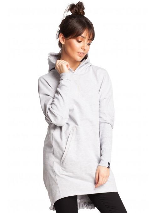 Švelnus šviesiai pilkas megztinis